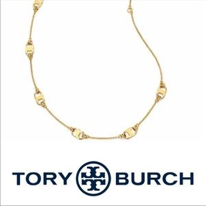 Tory Burch Gemini Link Station Gold Tone Necklace